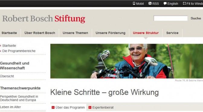 Robert Bosch Stiftung - Kleine Schritte – große Wirkung