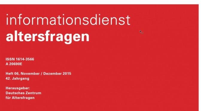 Cover Infodienst Altersfragen 12/2015