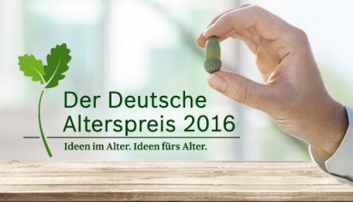 Deutscher Alterspreis 2016 ausgeschrieben