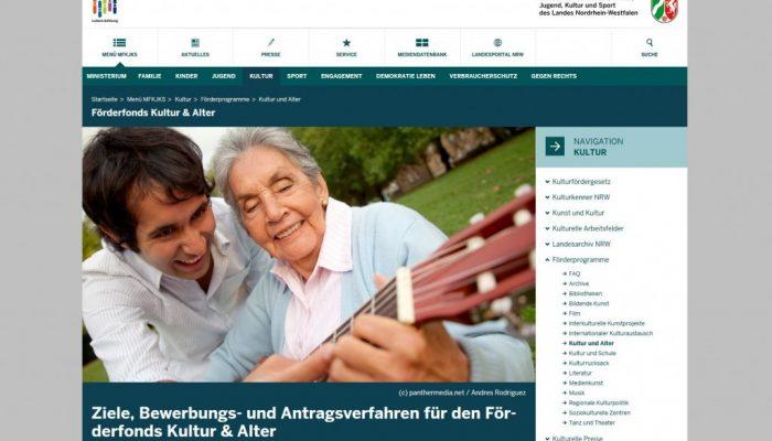 Förderfonds Kultur & Alter 2017