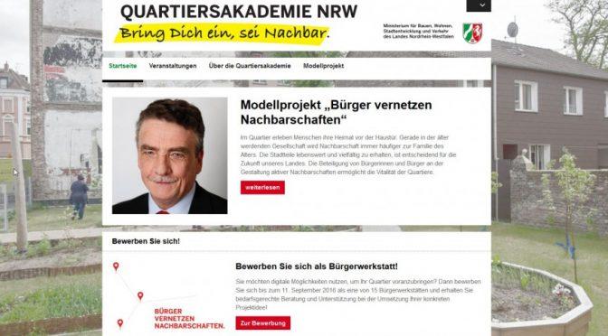Quartiersakademie NRW - Startseite
