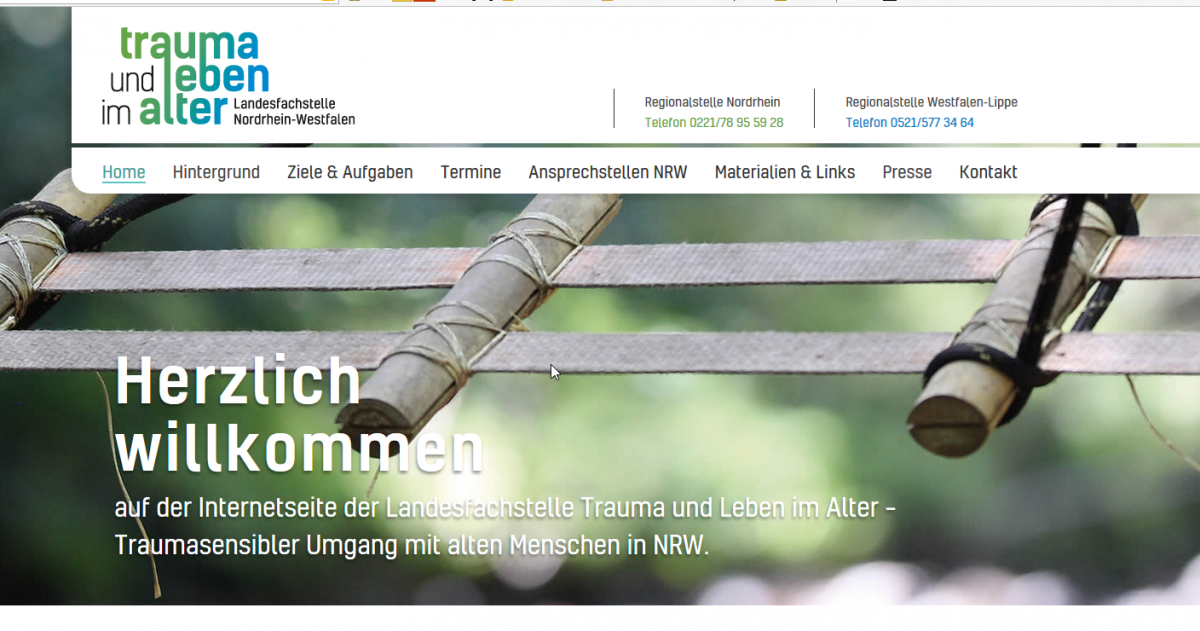 Screenshot trauma und leben im alter – Traumasensibler Umgang mit alten Menschen