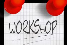 Aushang mit Beschreibung Workshop